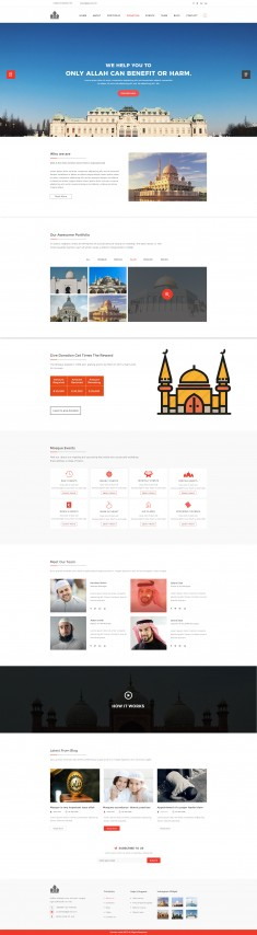 Mosque PSD Template