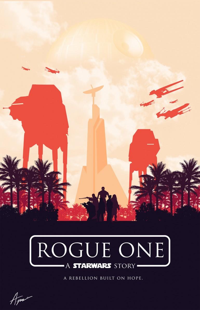 Star Wars Posters – Minimalist Rogue One