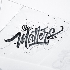 Typographic Aesthetics: Brushpen Lettering by David Milan