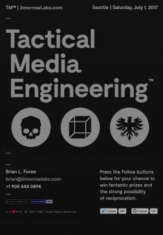 Portrait-oriented tablet screen | Tactical Media Engineering™ | © 2017