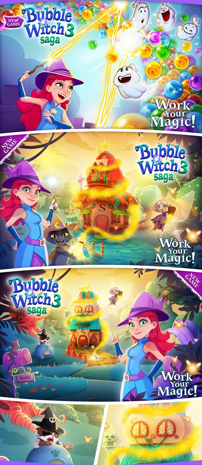 Bubble Witch 3 saga – Launch Campaign