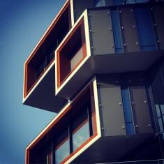 Modern architecture in Nydalen in Oslo