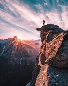 Standing in Awe on Glacier Point – Yosemite National Park