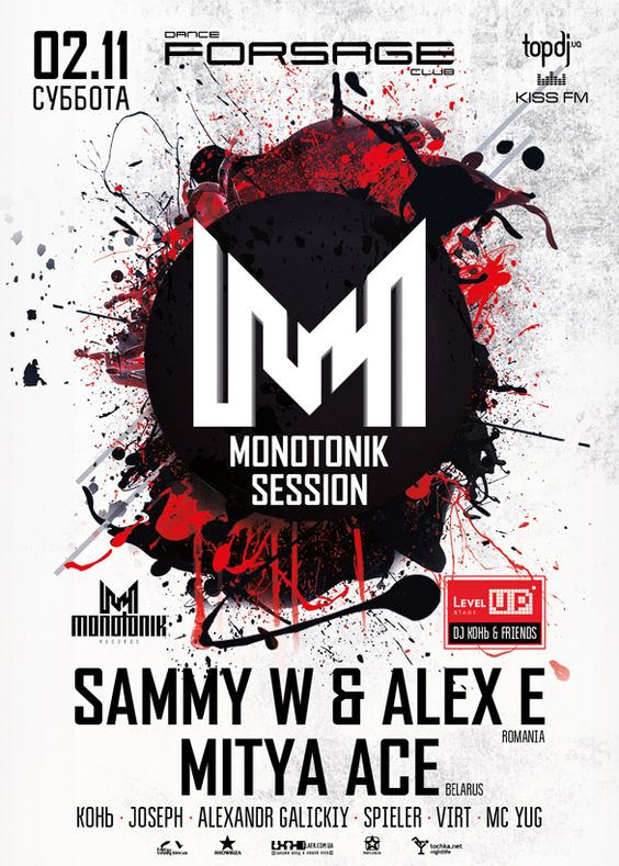 Monotonik session party poster design