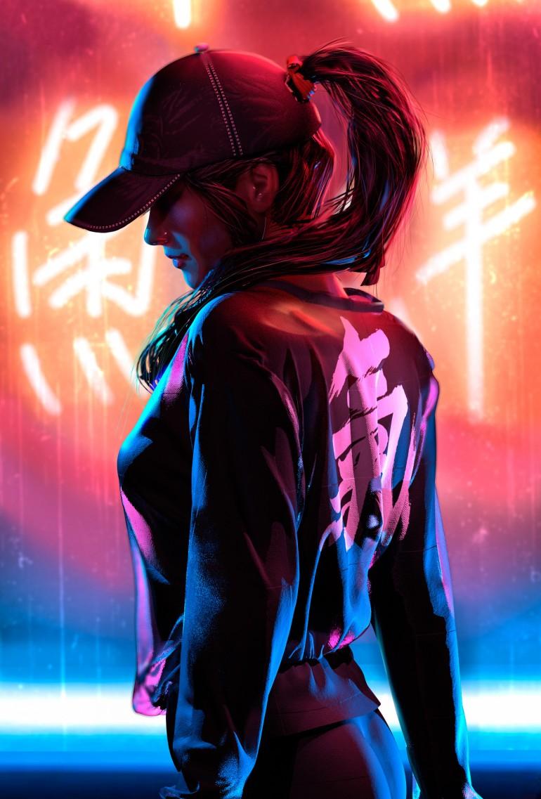 Neon Study by Oskar Woinski