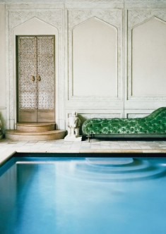 Ann Getty's indoor pool in her San Francisco Mansion