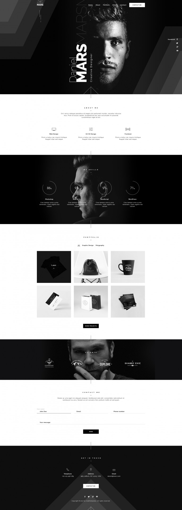 Mars – Personal Portfolio
