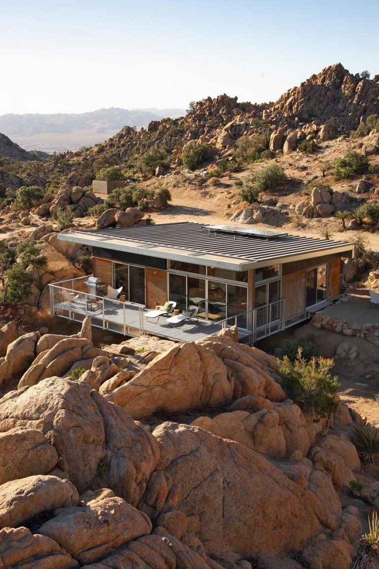 Prefab Sustainable Home Perched Amidst a Pristine High Desert