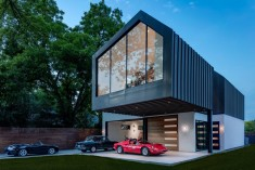 Autohaus Residence and Car Collectors' Garage in Central Texas