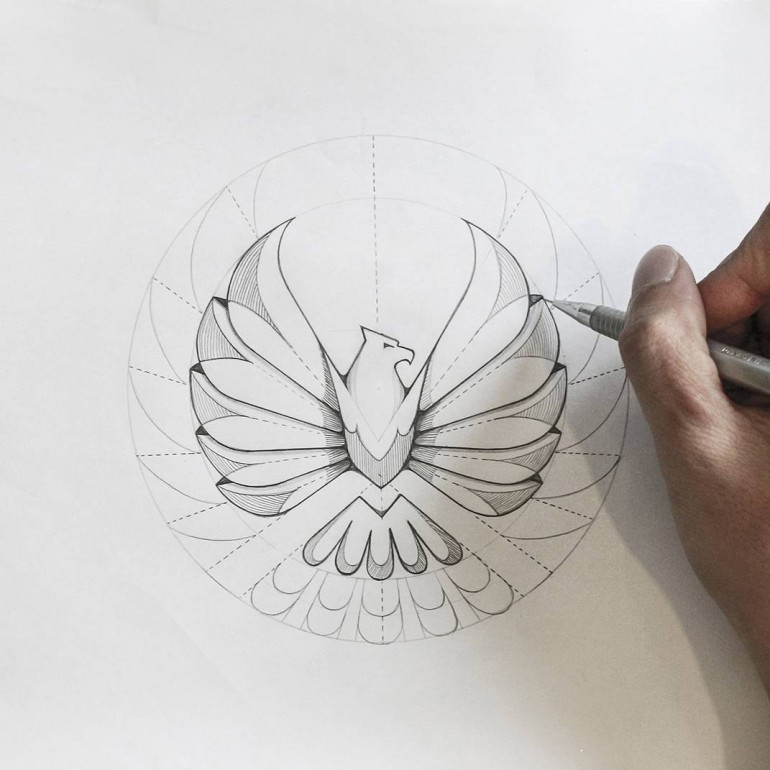 Eagle logo sketch version