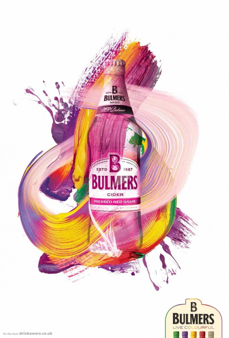 Bulmers Print Advert By DDB: Live colourful, 2
