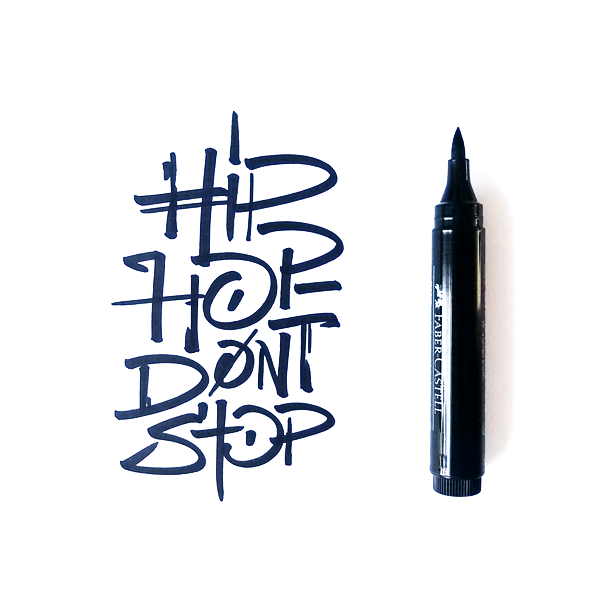 Calligraphy and lettering – Hip Hop Don't Stop