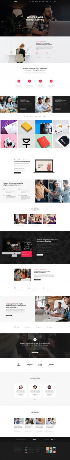 Pofo Creative WordPress Theme – Classic Corporate