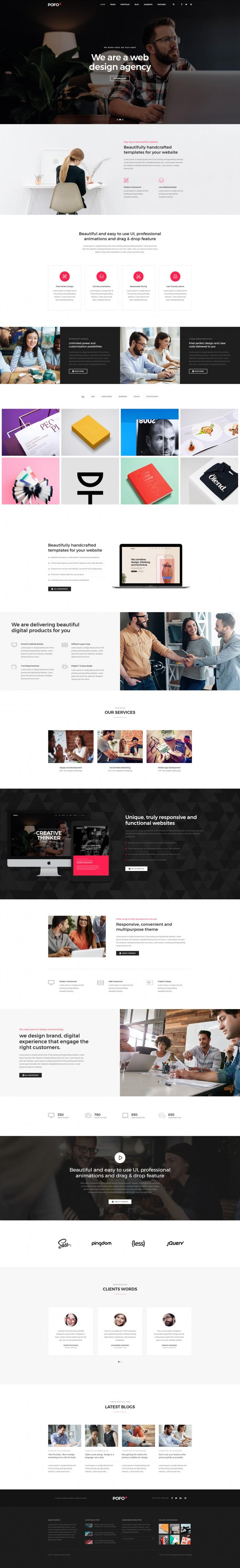 Pofo Creative WordPress Theme – Classic Corporate