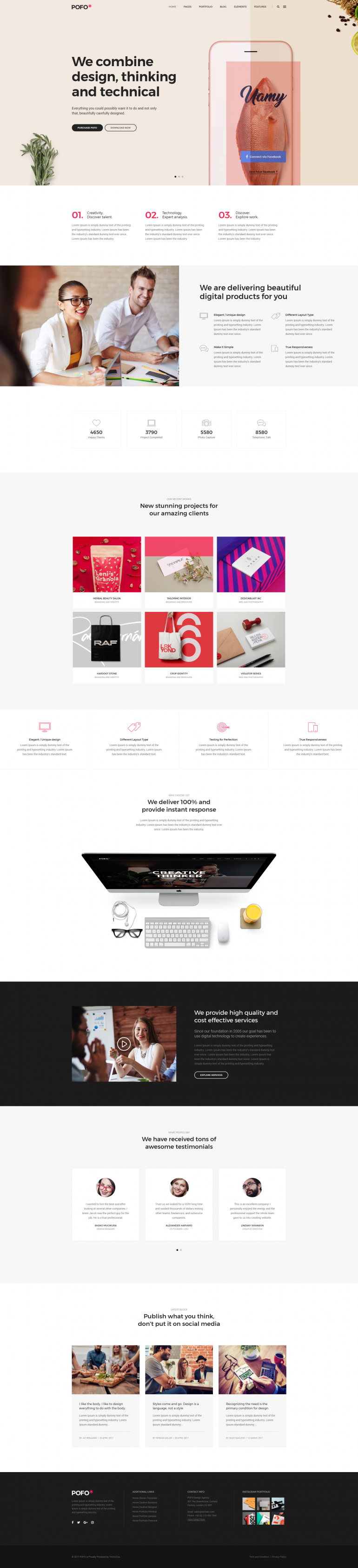 Pofo Creative WordPress Theme – Digital Agency