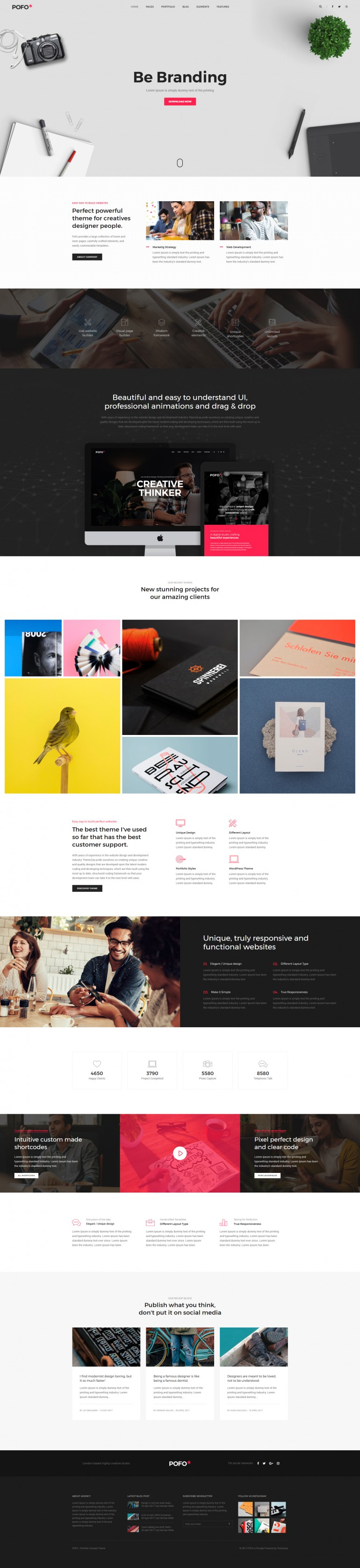 Pofo Creative WordPress Theme – Web Agency