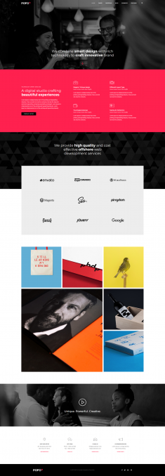 Pofo Creative WordPress Theme – Creative Small Business
