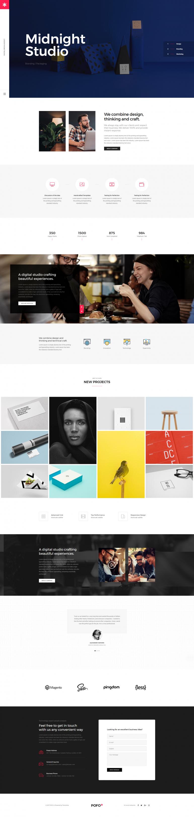 Pofo Creative WordPress Theme – Creative Studio