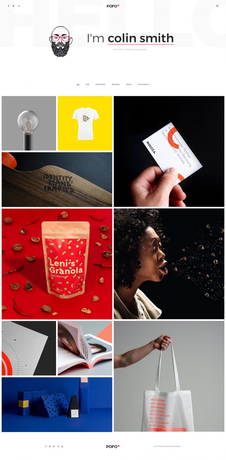 Pofo Creative WordPress Theme – Metro Portfolio