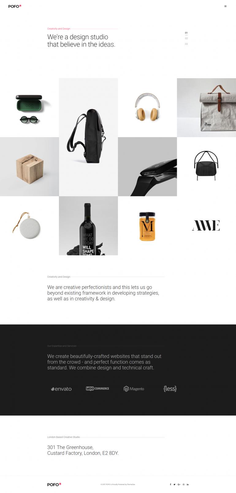 Pofo Creative WordPress Theme – Minimal Portfolio