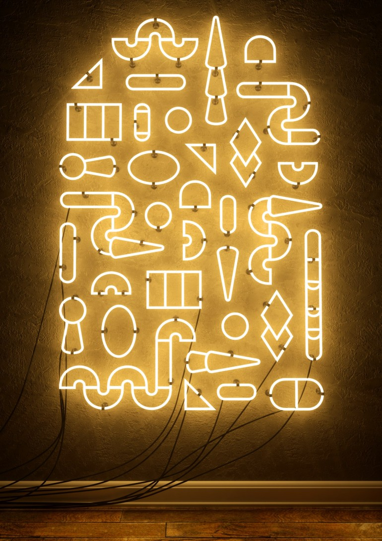 Neon light installation proposal. By Xavier Segers / The Last Dodo