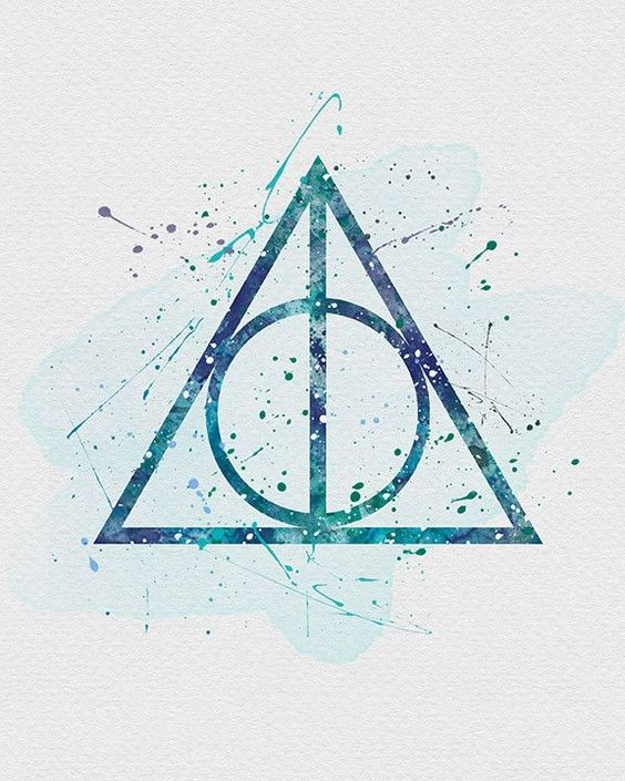The Deathly Hallows, Harry Potter Watercolor Art Print