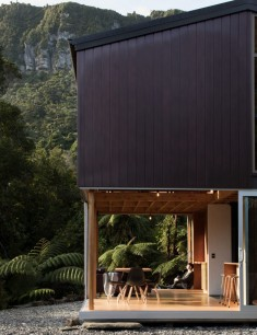 Small Coastal Cabin Located Near the Wild Coastline of the Tasman Sea