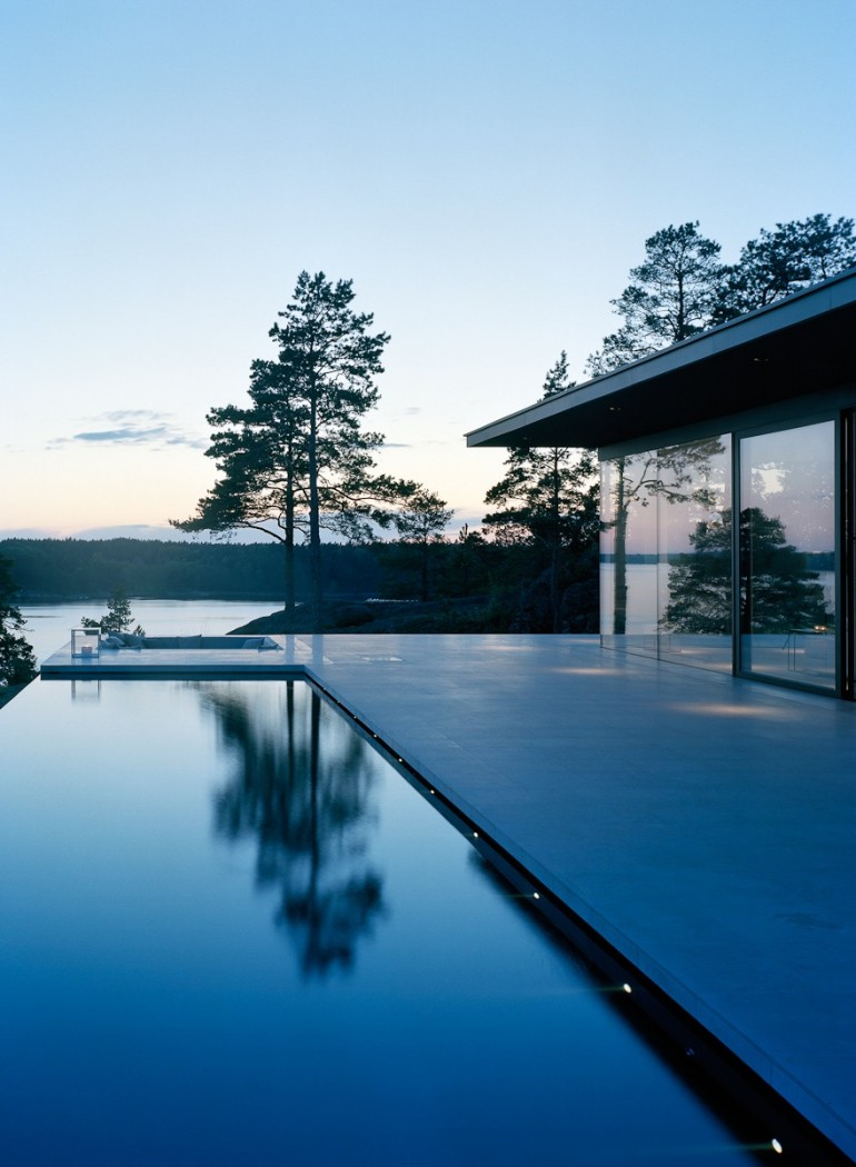 The Glass House in Stockholm Archipelago
