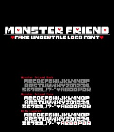 Monster Friend: Undertale Font