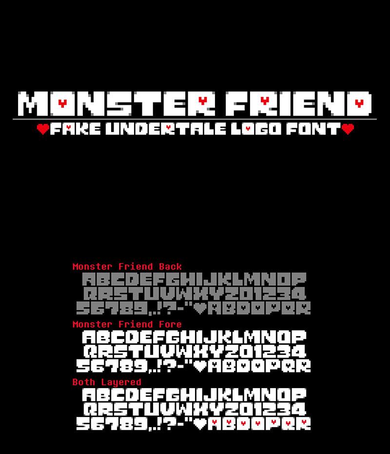 Monster Friend: Undertale Font