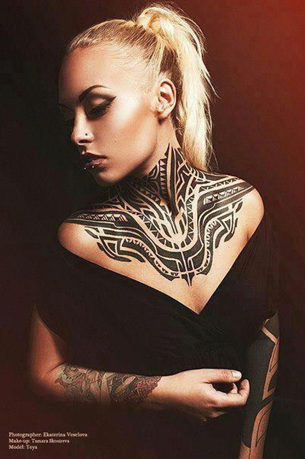 Maori Tattoo on neck