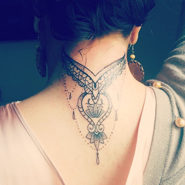 Neck Tattoos for Women