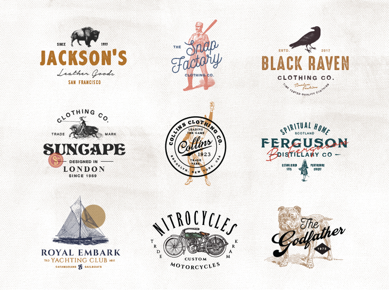 Vintage logo Templates Vol. 3