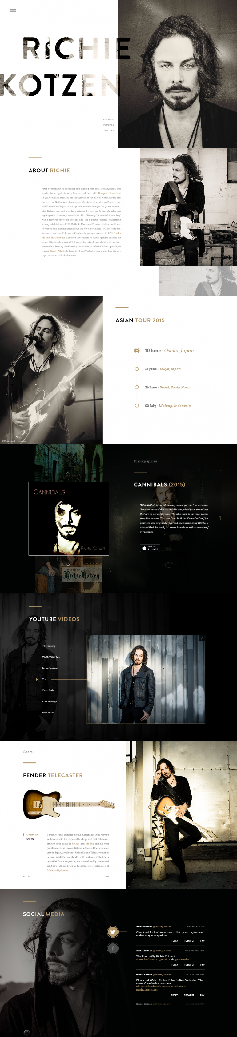 Richie Kotzen Website by Tulus Driyo