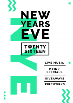 New Years Eve 2016 Poster design
