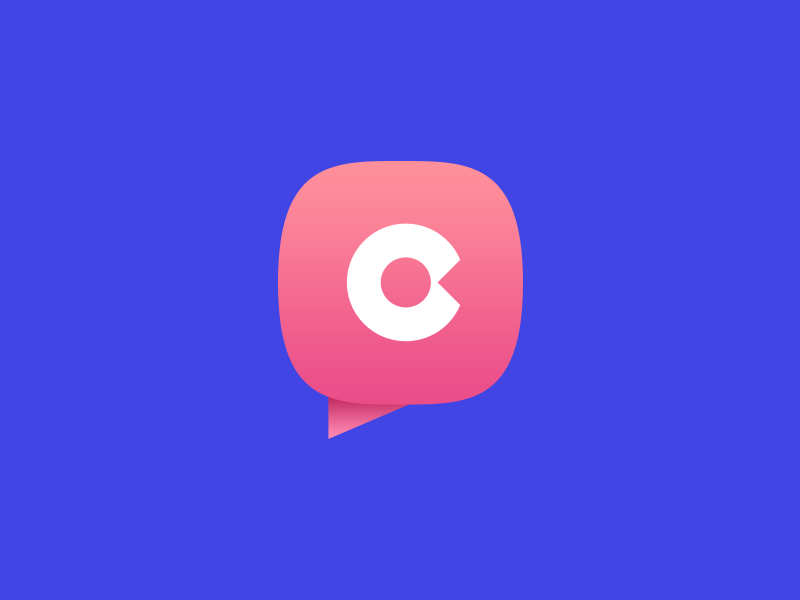 Logo for dating chat Coomeet by Alexandr Bilchenko