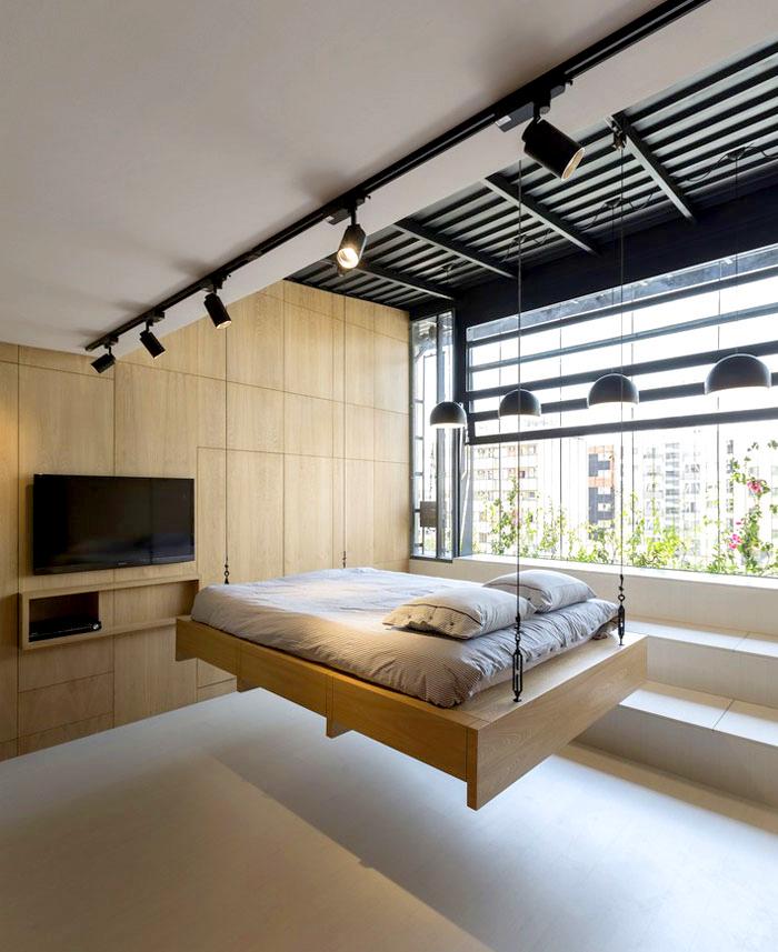 Space-Saving Design Idea at 45m2 Apartment