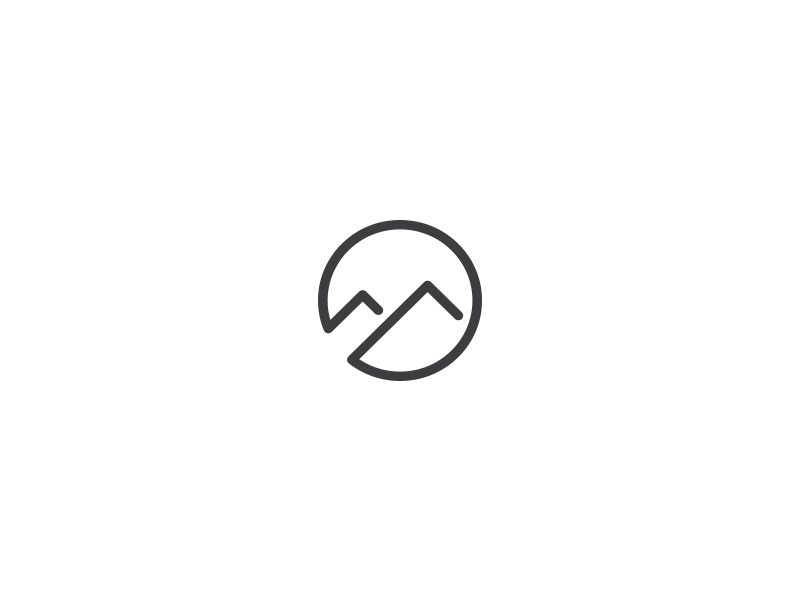 Mountains Logo by Taras Boychik