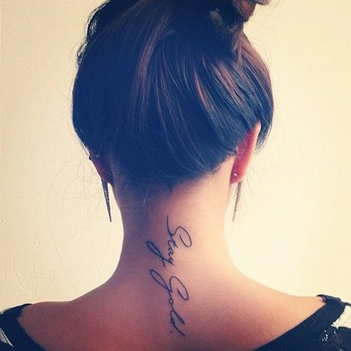Neck Tattoos Designs for Women