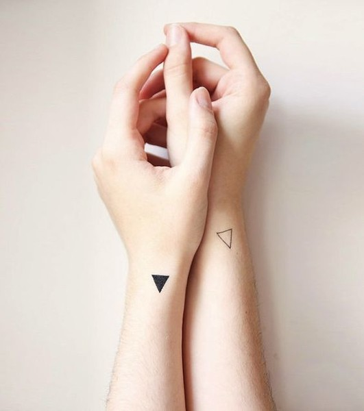 Triangular Energy Play – Minimalist Tattoos