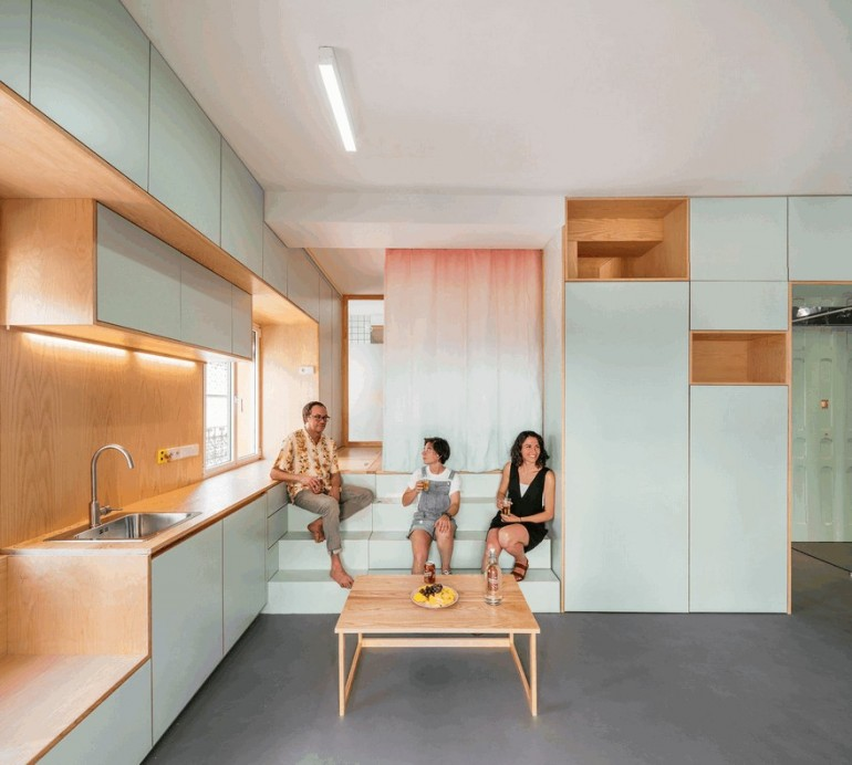 Complete Reform of a 34 Square Meters Apartment in Downtown Madrid