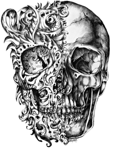 Cool Skull Tattoo Design Drawing PNG