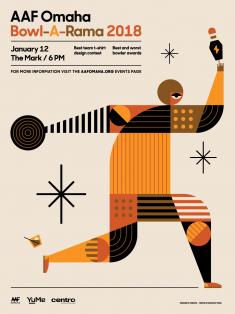 AAF Omaha Bowl-A-Rama 2018 Poster by Sean Heisler