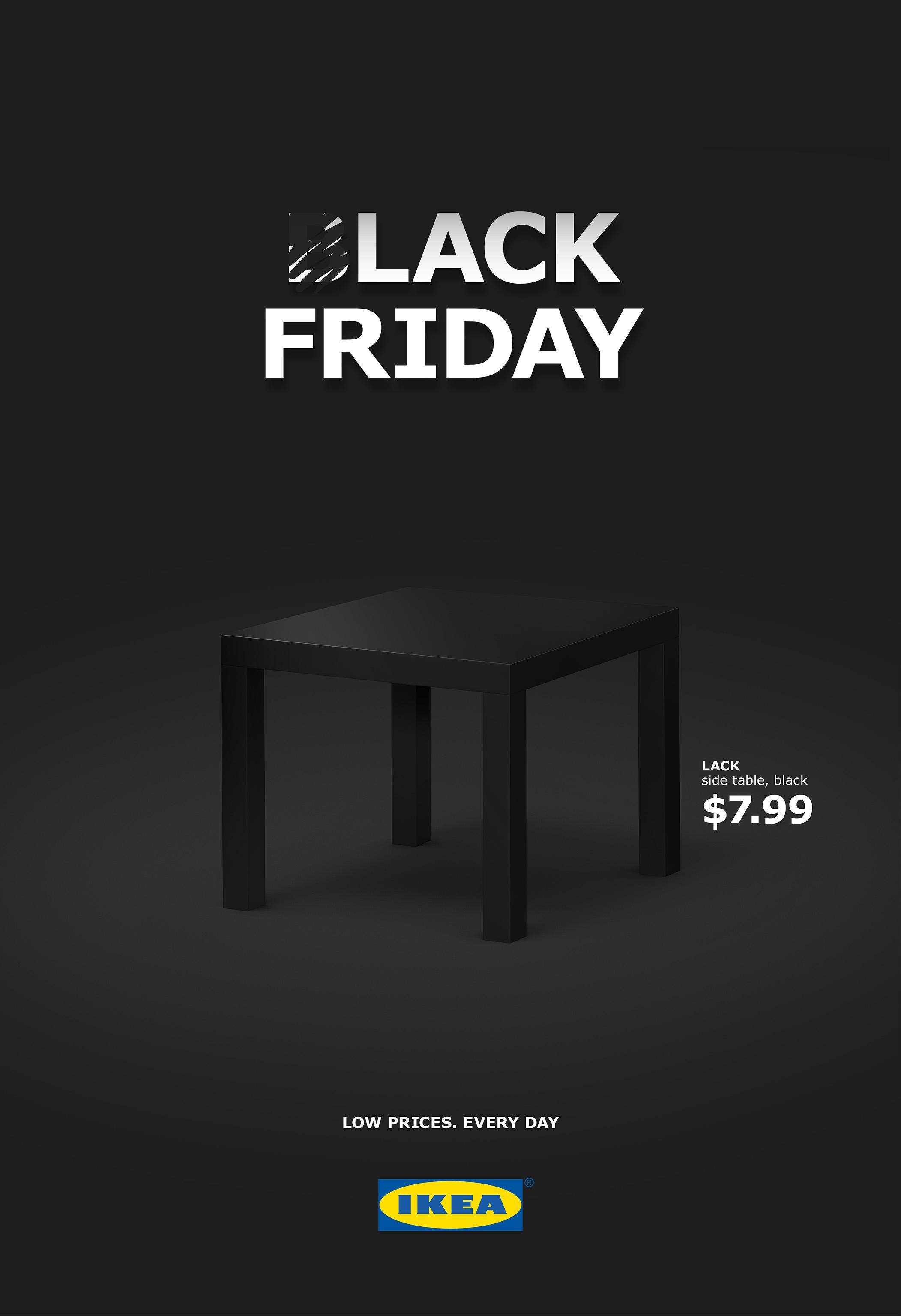 ikea print advert by hjaltelin stahl lack friday on inspirationde. Black Bedroom Furniture Sets. Home Design Ideas