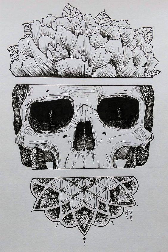 Sugar Skull by Mathilde Jakobsen