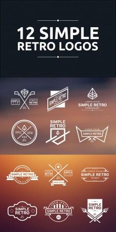 12 Simple Retro Logos