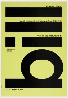 Bill – Max Bill: Werbegrafik und Buchgestaltung 1930-1955, Museum für Gestaltung Zürich, 1998