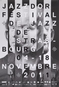 Poster for Jazzdor Festival, 2011. Design by Helmo.
