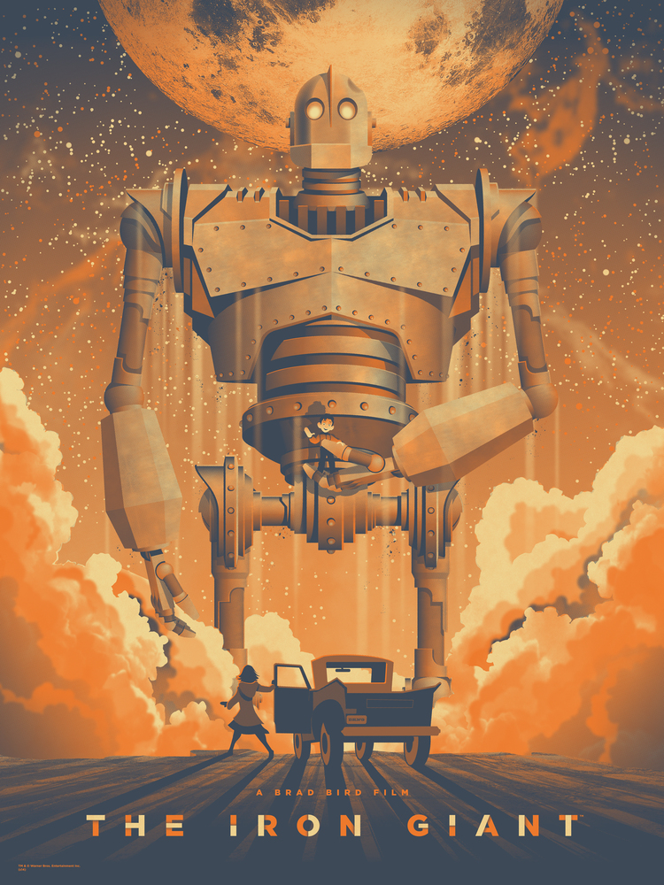 Space io The Iron Giant Mondo Art Print