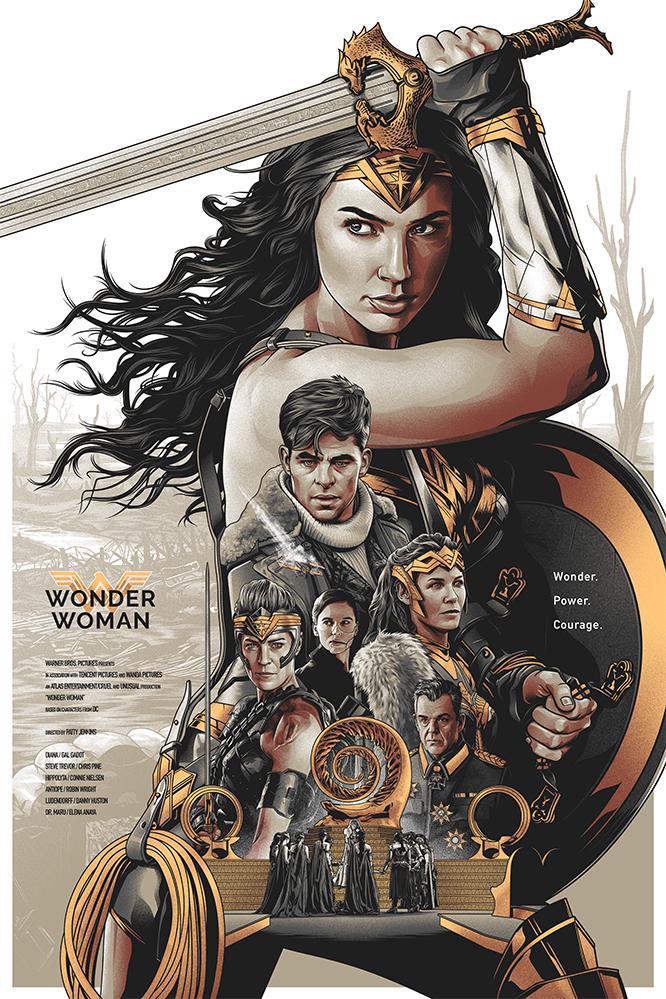 Wonder Woman – Alternative Movie Poster by Amien Juugo